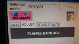 Sony FDR-AX33 Flange Back ADJ