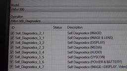 Sony PMW-300 Diagnostics
