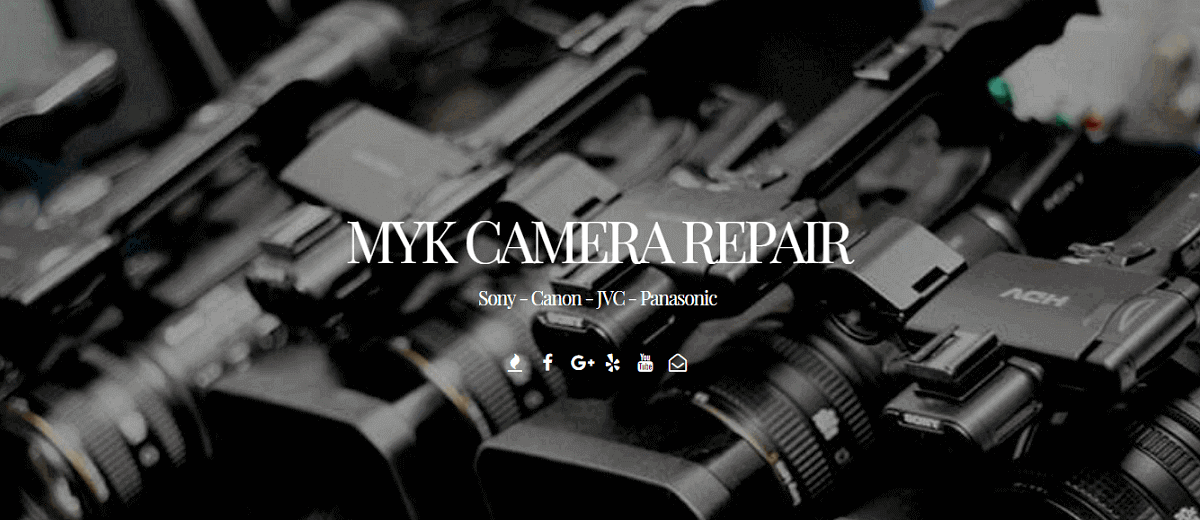 MYK Camera Camcorder Repair Services | Sony | Canon | JVC
