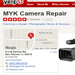 More MYK Camera Repair Reviews at Yelp