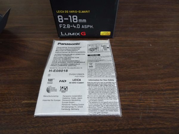 Panasonic Lumix G Leica DG Vario Elmait 8-18mm F2.8-4 ASPH H-E08018